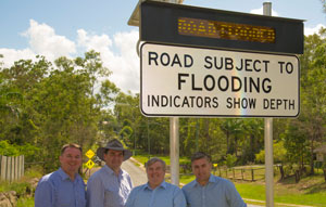 Flooded road warning system recognised in QLD resilience awards