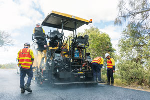 Melbourne-based contractor ALL ASH is reaping the benefits of the new Caterpillar AP500F asphalt paver, thanks to its technical capabilities but also the support from dealer William Adams.