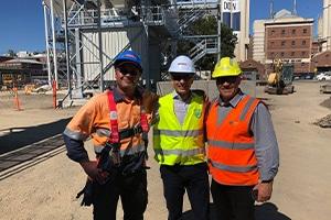 Australia's first Simem Concrete batching plant