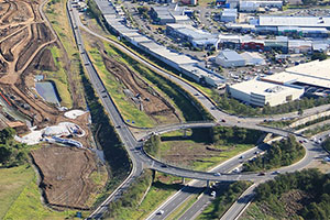 First bridge constructed on Albion Park Rail bypass