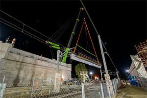 Alliance installs bridge beams for Evans Road level crossing removal