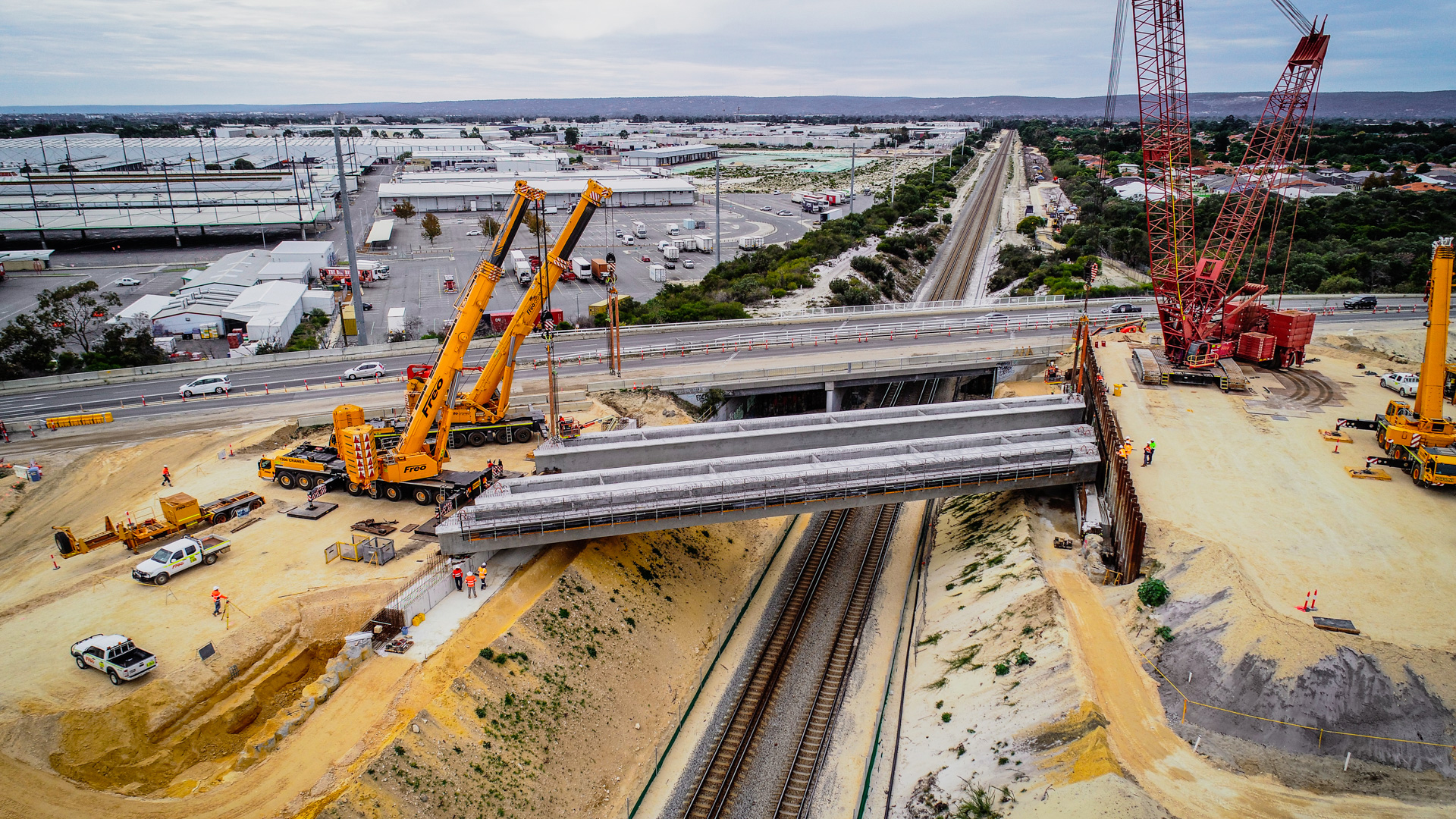 METRONET project sees largest bridge beams installed in WA
