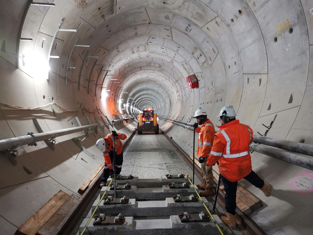 Track-laying completed for Perth's Forrestfield-Airport Link