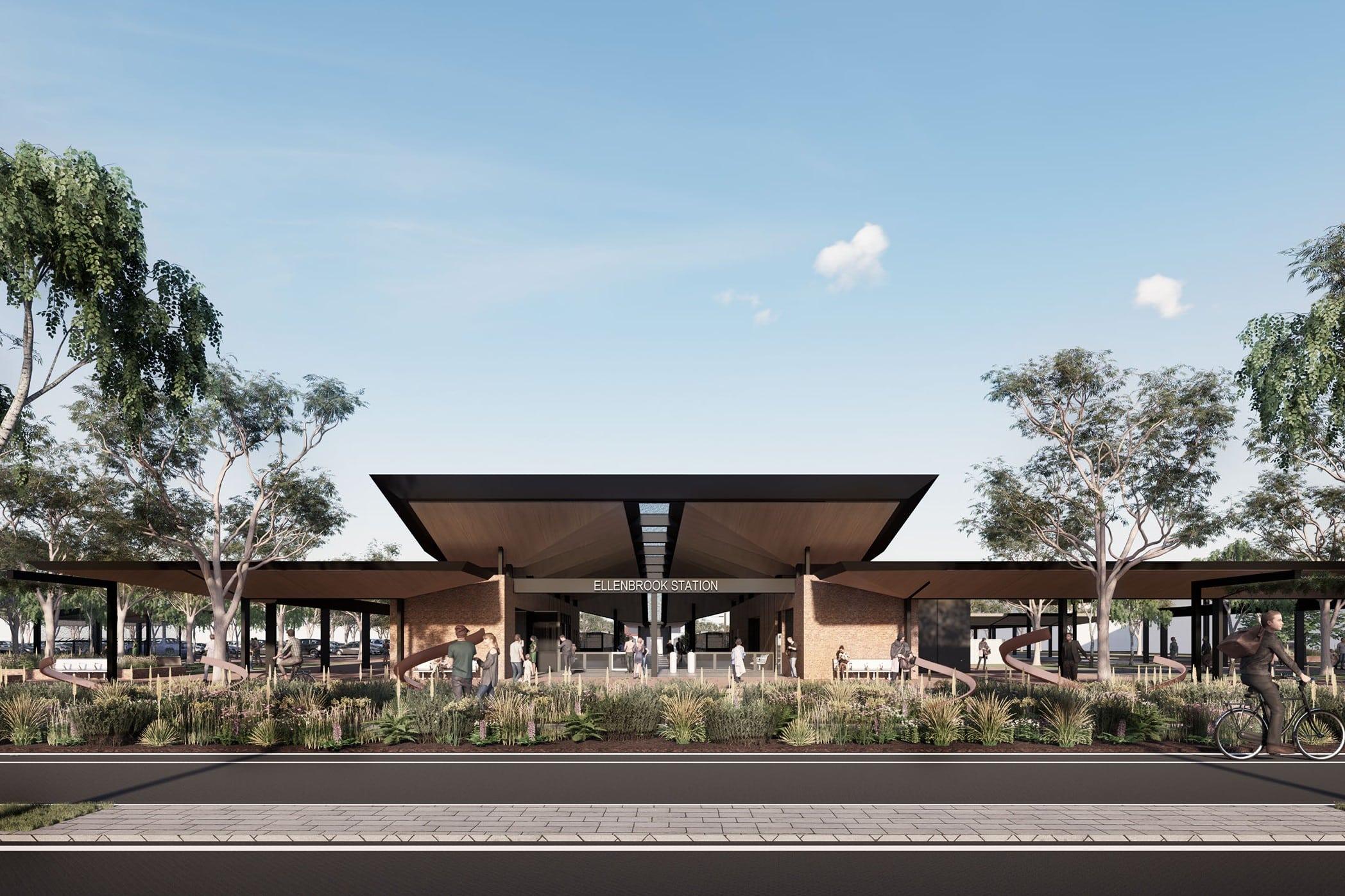 Designs revealed for Perth's Ellenbrook Station