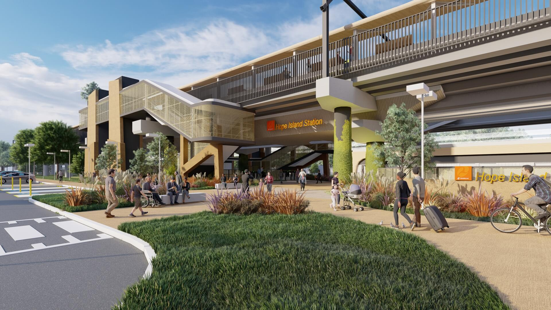 Detailed designs released for Gold Coast's new Hope Island station