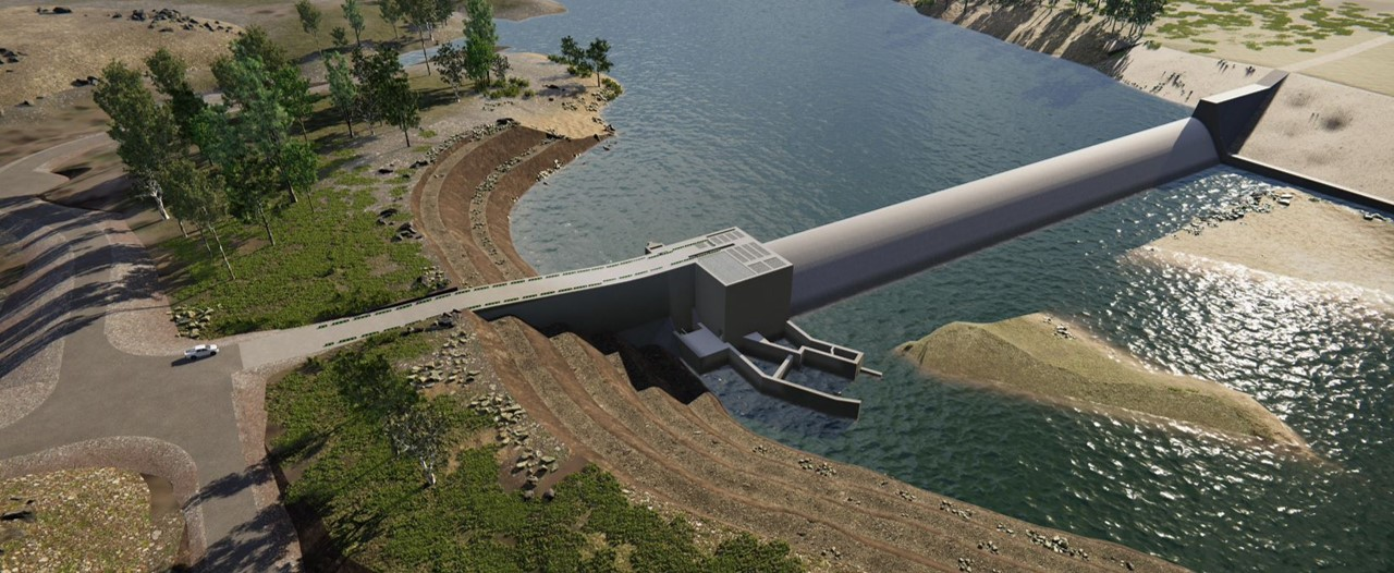 QLD's $367M Rookwood Weir project powering on