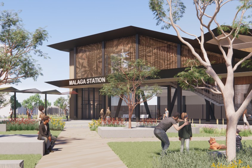 Perth's new Malaga station will be a 'station within a park'