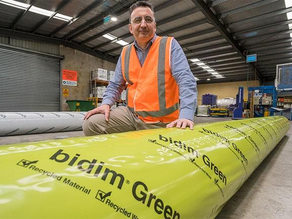 Geofabrics' recycled geotextile wins global sustainability award