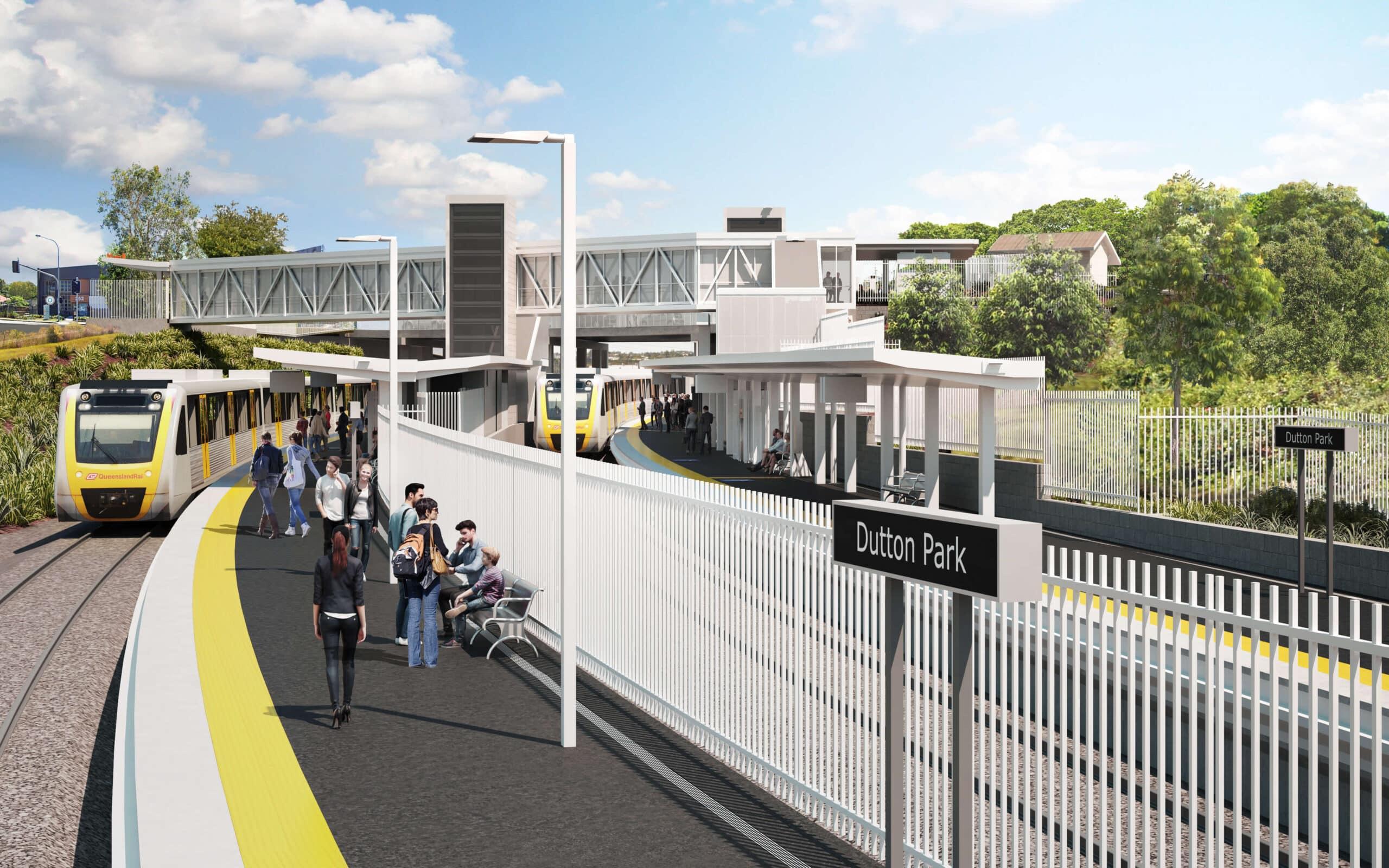 Design revealed for Brisbane's Dutton Park Station rebuild