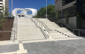 Hanson Precast provided an innovative precast solution for the stairway at the Woden Bus Interchange in the ACT, that has benefited more than just pedestrians.