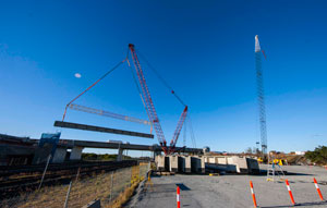 Australia's longest pre-stressed girders placed on Port Drive Upgrade
