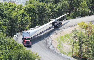 Transoft Solutions' AutoTURN Software is being used to help safely navigate trucks transporting wind turbine components.