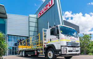Isuzu trucks for tunnelling projects