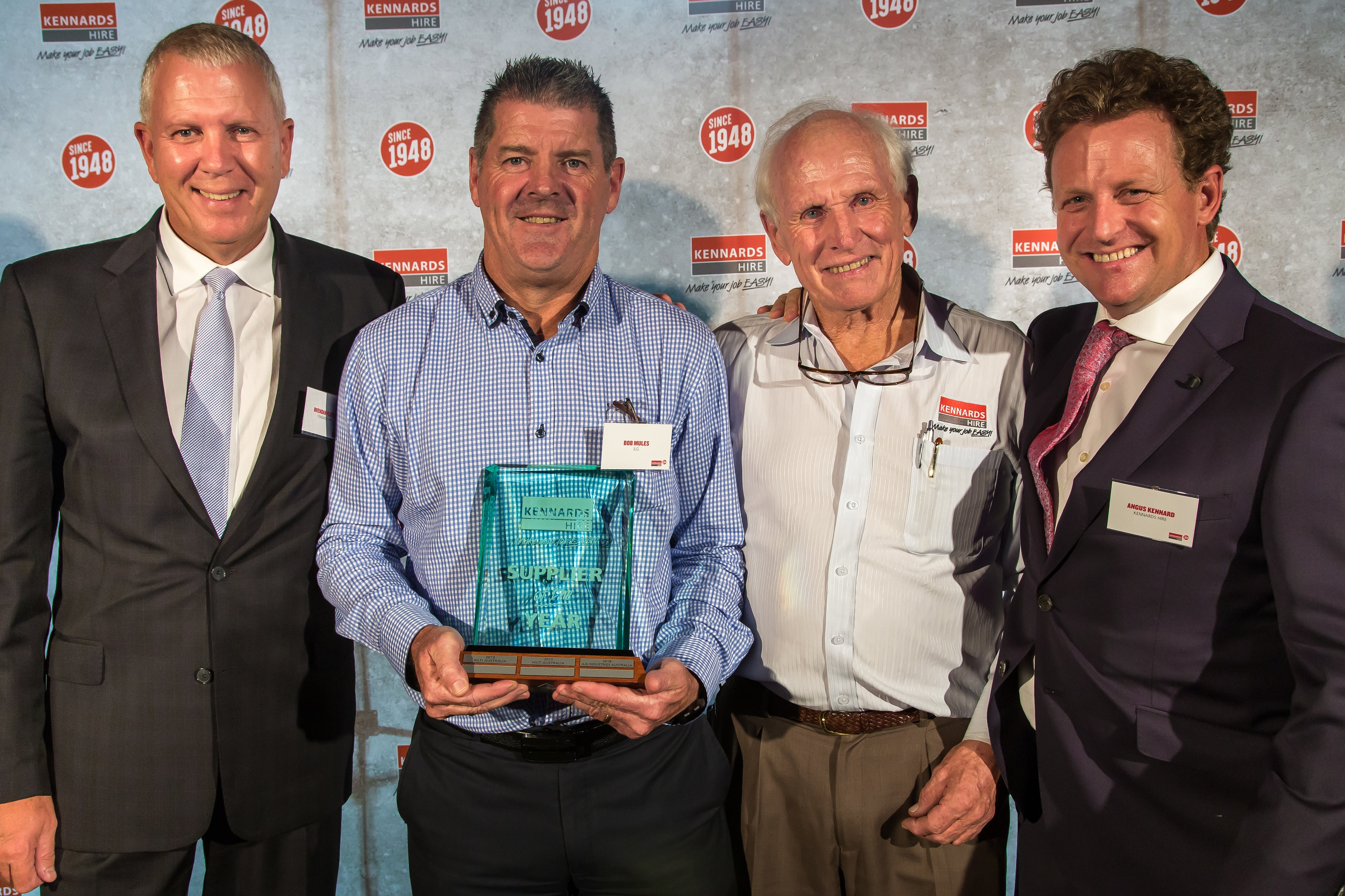 Kennards Hire Supplier of the Year award winners