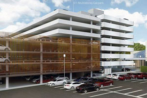 Precast concrete is playing an important role in the three-stage upgrade of the Parramatta Leagues Club, most recently for the construction of its new seven-storey car park.