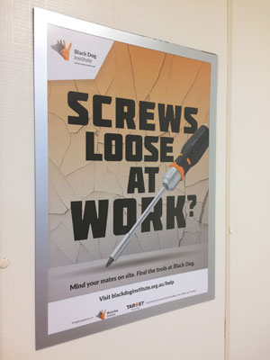 The Black Dog Institute and Target Tradies have partnered to deliver positive mental health messaging across Australian construction sites.