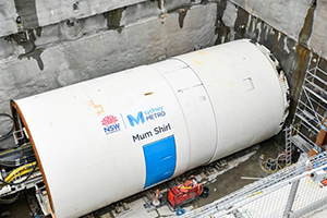 Second TBM begins work on Sydney Metro