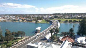Mandurah Traffic Bridge. Image courtesy of Main Roads.
