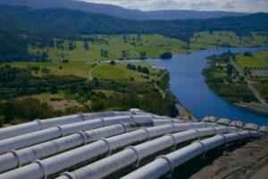 View of the Snowy Hydro site, Australia's largest hydropower scheme.